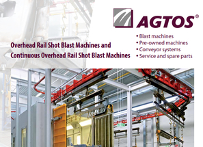 Overhead Rail Shot Blast Machines and  Continuous Overhead Rail Shot Blast Machines