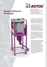 Abrasive refilling silo for big-bags