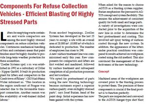 Components For Refuse Collection Vehicles - Efficient Blasting Of Highly Stressed Parts