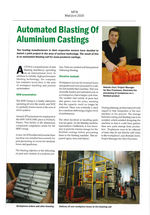 Automated blasting of aluminium castings