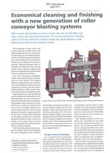 Economical cleaning and finfishing with a new generation of roller conveyor blasting systems