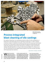 Process-integrated blast cleaning of die castings