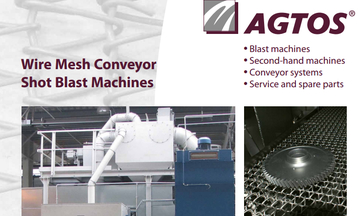Wire mesh conveyor shot blast machines